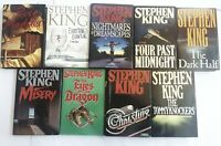 FIRST EDITION, FIRST PRINTING Stephen King Lot of 9 Novels Books HC DJ