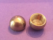 """LOT OF 2: NEW Unfinished Solid Brass 1/2"""" Half Ball Cap Finial KNOB tap 1/8 IPS"""
