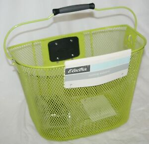 Electra Bicycle Wire Shopping Basket Front Quick Release Handlebar Mount Green