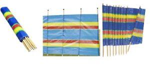 New 4,5,6,8,10 Pole Caravan Camping Windbreak Windbreaker Beach Garden Holiday !