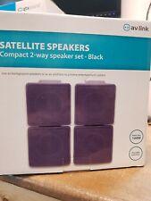 4x Compact Background Speaker Set 2-Way Satellite Home Cinema Speakers 2x Pairs