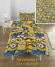 MINIONS ARMY DESPICABLE ME SINGLE DUVET COVER SET BOYS GIRLS - 2 IN 1 DESIGN