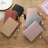Mini Leather Credit ID Card Holder Pocket Wallet Zip Coin Bag Case Bifold Purse