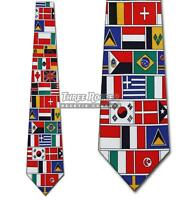 World Flag Ties Countries Necktie United Nations Mens Neck Tie Brand New