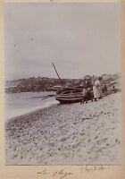 Le Havre La Plage France Photo Amateur Vintage citrate c1900