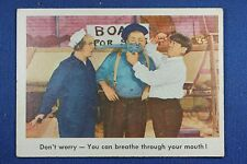 1959 Fleer - 3 Stooges - #15 Don't worry - You can breathe through... - Ex/Mt