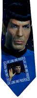 Star Trek Spock Live Long and Prosper Novelty Tie Necktie Mens By Ralph Marlin
