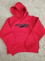 American Girl Doll Girls Size M 10 / 12 Varsity Red Hoodie Sweatshirt NIP