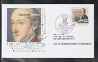 LA 099 ) Germany 2002 - 250th birthday of Adolph von Knigge  of beautiful FDC
