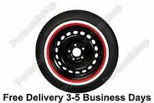 "15"" Red White wall Portawall Tyre insert Trim Set VW Bug Beetle FREE DHL SHIP"