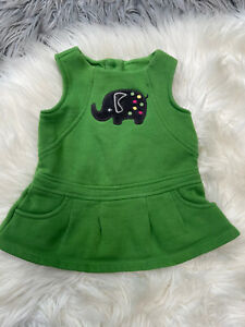 Gymboree Baby Girls 3-6 Months Green Top Sweat T-Shirt Turtle 🐢