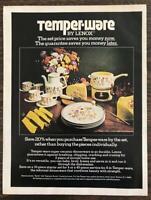 1976 Lenox Temper-Ware Print Ad Super Ceramic Sprite Pattern Dinnerware