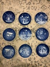 New ListingBing and Grondahl Copenhagen Christmas Plates- Lot of 9- 1980s- 3 Signed