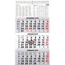 3-Monatskalender 2019 Bürokalender Wandplaner 45x23,5cm Dreimonatskalender NEU