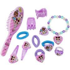 LOL Surprise 11 Pcs Beauty Set -2 Hair Grips 4 Bands 1 Brush 2 Clips 1 Bracelet