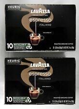 "2 New 10-ct Boxes Lavazza ""Gran Selezione"" K-Cup Pods, Dark Roast Coffee, Keurig"