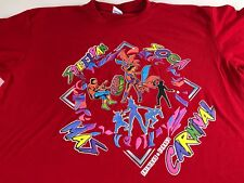 Trinidad & Tobago T-Shirt Mens Medium SteelPan Soca Carnival Mas Red Colorful