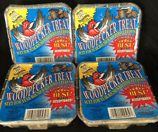 Woodpecker Treat Suet Wild Bird Cake Lot of 4 Year Round Feed Feeding Seed Nuts
