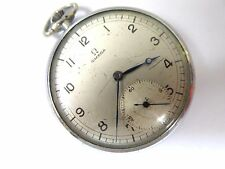 VINTAGE OMEGA POCKET WATCH 15 Jewels Sub-Dial c1930s Running Strong 44mm Size 18
