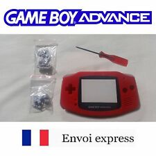 Coque GAME BOY ADVANCE rouge red NEUF NEW + tournevis - étui shell case GBA