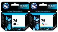 GENUINE NEW HP 74/75 (CB335WN/CB337WN) Ink Cartridge 2-Pack