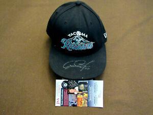 ADAM JONES TACOMA RAINERS SEATTLE ORIOLES SIGNED AUTO GAME USED CAP HAT JSA