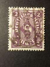 ALLEMAGNE EMPIRE GERMANY 1922/23, timbre 205 oblitéré,  COR DE POSTE, VF STAMP