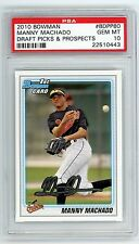 2010 Bowman Draft Manny Machado RC ROOKIE #BDPP80 PSA 10 GEM MINT ORIOLES QTY