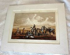 Railroad Survey Lt Crovers Despatch Fort Benton Matted Tinted Lithograph/Print