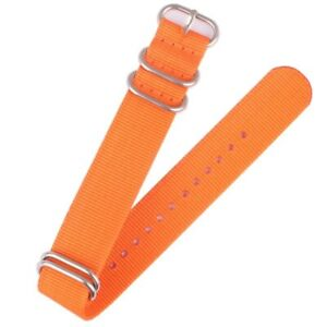 Sport Nylon Watch Strap 16mm 18 20mm 24mm 22mm Watch Band Bracelet w Metal Rings
