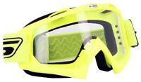 Lunettes / masque motocross ECO S-Line Jaune (écran clair)