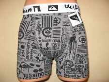 NEW BOYS GREY PRINT TRENDY QUIKSILVER FITTED COTTON BOXERS AGE 13-15 26/28 WAIST