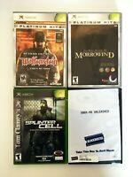 Lot 4 Original Xbox Games - TESTED - Elder Scrolls Splinter Cell Wolfenstein