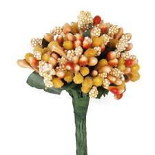 12 x Bouquet Artificial Flower Stamen Wedding Millinery Sugarcraft Orange