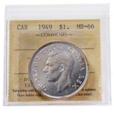 1949 Canada King George VI Silver Dollar, ICCS  MS-66 Super GEM!   O125