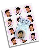 12 Justin Bieber Cupcake Decoration Edible Cake Toppers Pre Cut 40mm