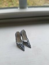 SHOES ~ BARBIE SILKSTONE BLUSH BEAUTY SILVER GLITTER PUMPS FITS MODEL MUSE HEELS