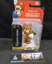 "Tanooki Mario action figure World of Nintendo 4"" Super Mario toy"