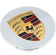 1 Perfect Genuine Original OEM Factory Porsche Color Logo Crest Wheel CENTER CAP