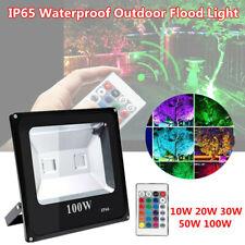 Outdoor Flood Light IP65 Waterproof Motion Sensor 10W 50W LED Color Lamp 10000LM
