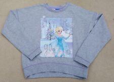DISNEY George Grey Marl Frozen Elsa Let It Snow Long Sleeve Sweatshirt 9-10 Yrs