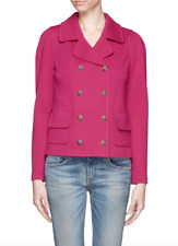 ST. JOHN – Stunning NEW Magenta Double-Breasted Milano Knit Jacket – Size 16