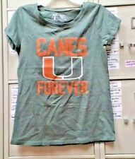 NCAA UNIVERSITY OF MIAMI HURRICANES GIRLS SHORT SLEEVE SHIRT SIZE XLARGE NEW