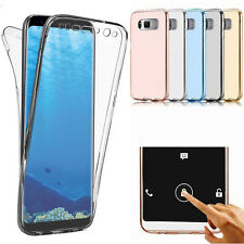 Coque Etui Housse 360° Clear FULL TPU Gel Silicone Tactile Pour Samsung S7 S8