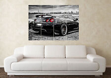 Grand Nissan Skyline GTR R35 32 33 34 Drift Voiture Mur Poster Art Image Print