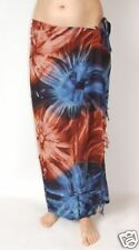 sa258 NEW BLUE /& GREY FLOWER PRINT SARONG SKIRT FULL LENGTH COVER UP ONE SIZE