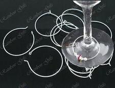 Échantillon Pack 4 plaqué argent verre vin charme anneaux boucle d'oreille hoops