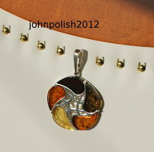 Lovely Baltic Amber Pendant on Silver 925