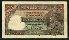 India 1928-1935, George V 5 Rupees, P15b, aVF