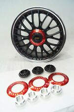 Audi Speedline BBS RS Centerlock Kits Hex Nuts Center Cap 19 20 Inch VW CUSTOM